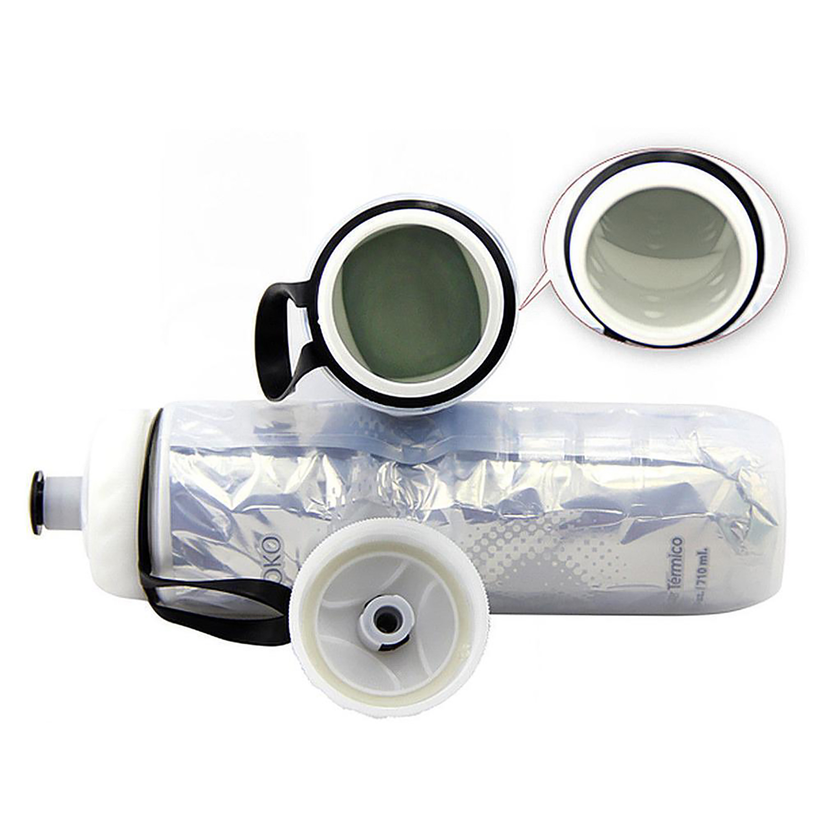 710ml-Simple-Outdoor-Insulated-Water-Bottle-Bike-Bicycle-Cycling-Sport-Cup-Worth thumbnail 27